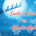 Santa's Arrival in Atlanta Area Mall for 2012