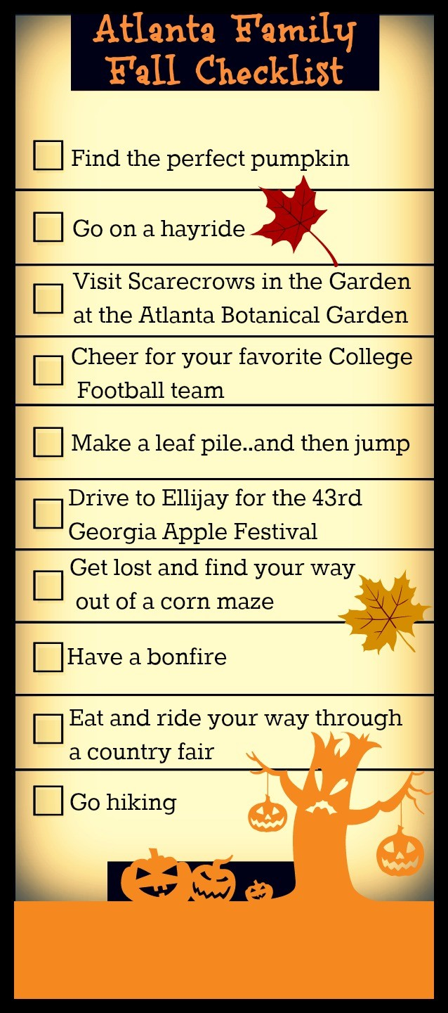 Atlanta Fall Checklist